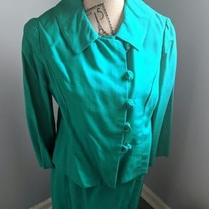 Vintage Green skirt suit